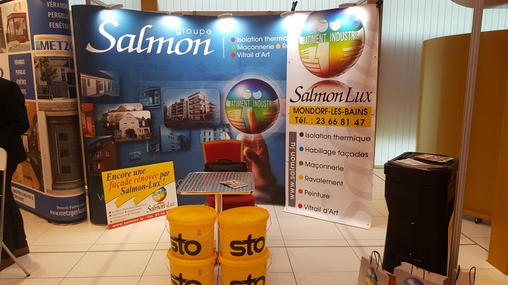 Le stand SalmonLux au salon Conseil Habitat de Mondorf-les-Bains