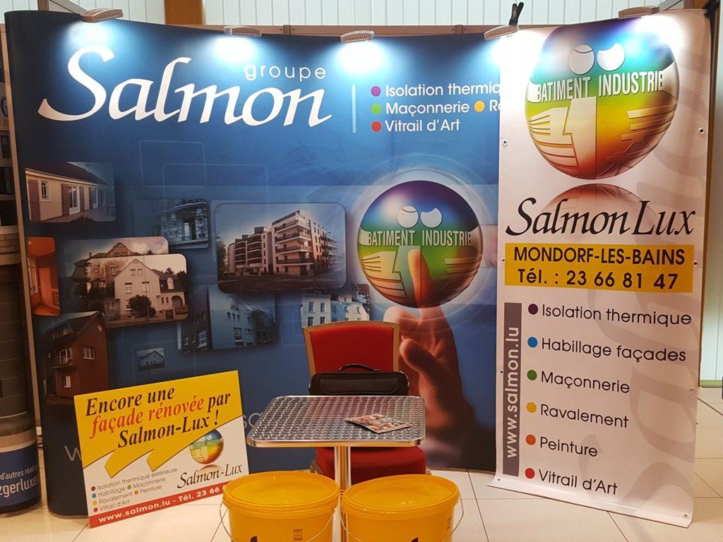 stand SalmonLux au salon ConseilHabitat : les produits innovants dans la construction