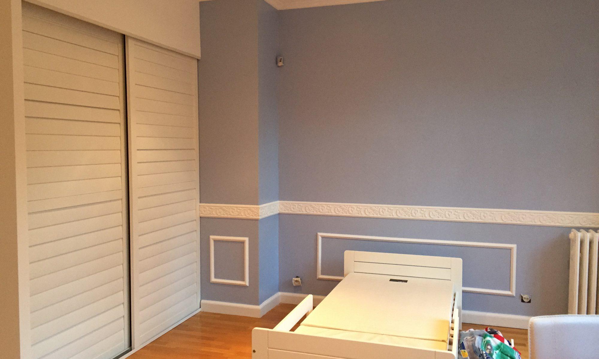 Rénovation intérieure : peinture, sol, luminaires et pose de placards